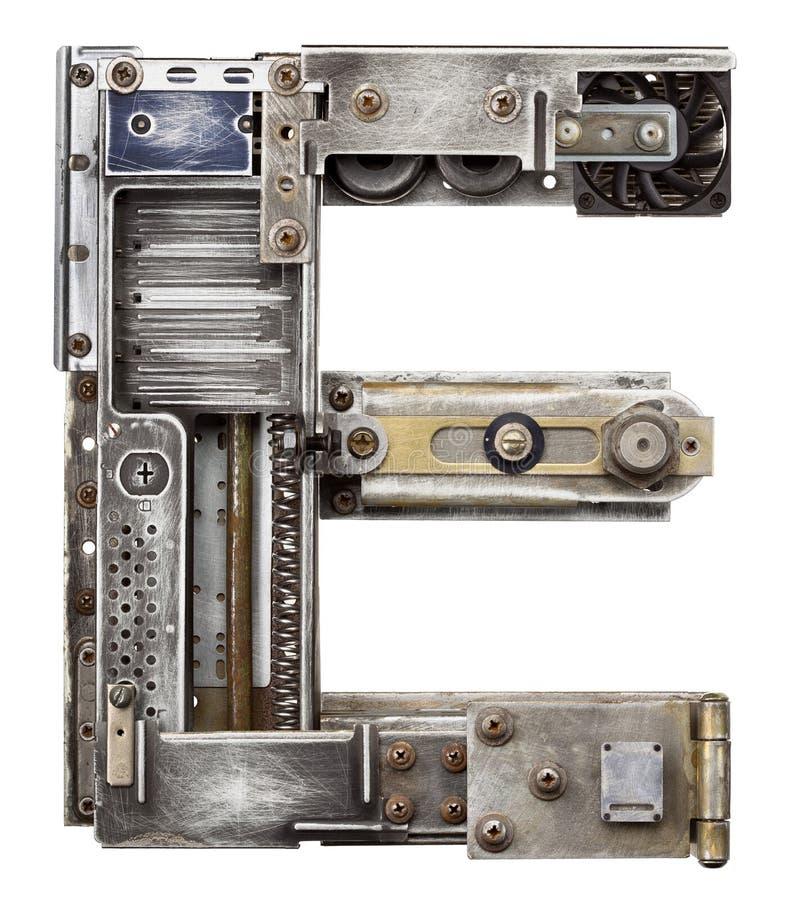 Metallbuchstabe stockbilder