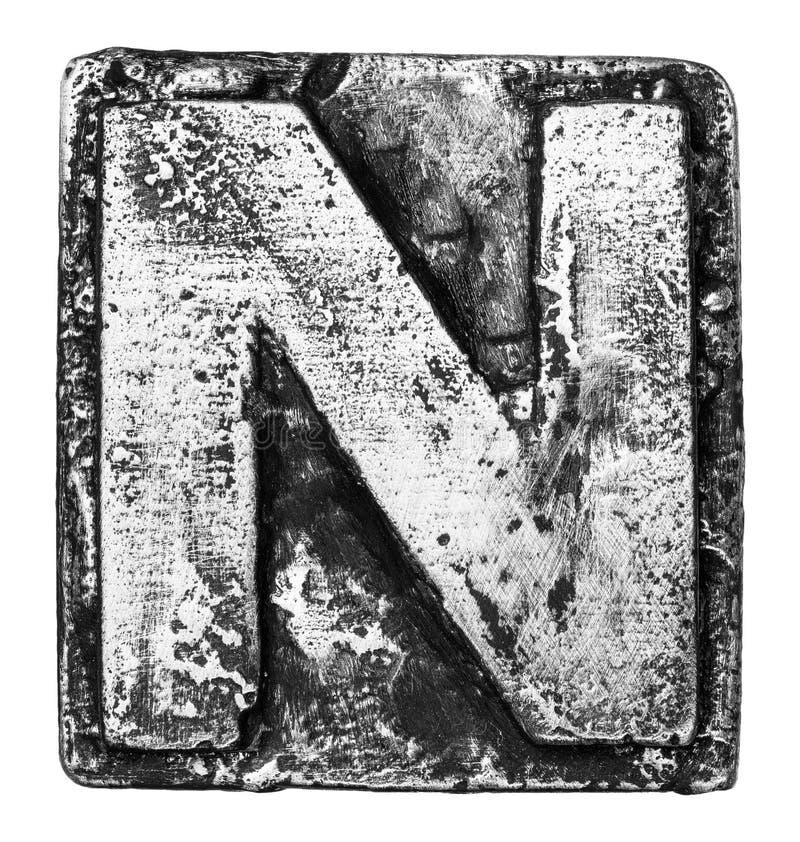 Metallbuchstabe stockfoto