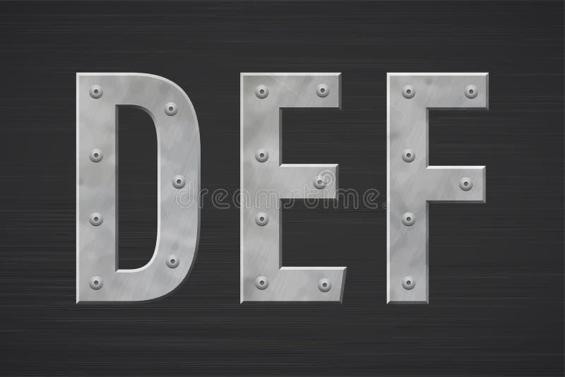 Metallbuchstaben mit Niet stock abbildung