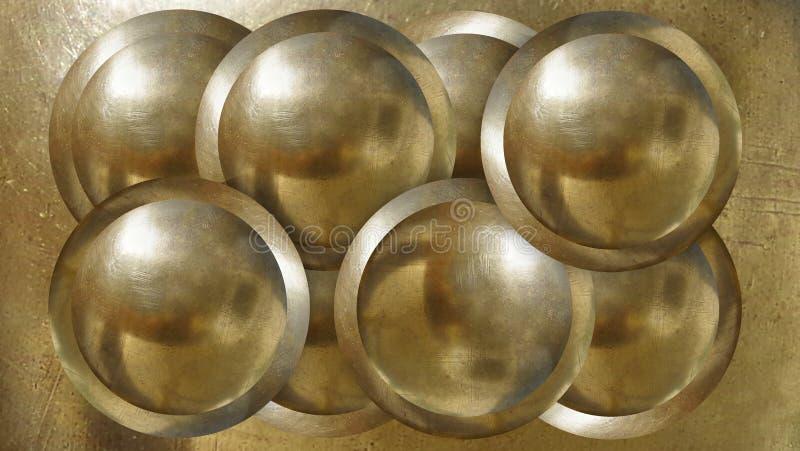 Metallbullets pour l'usage par exemple pour l'industri d'affiche illustration stock