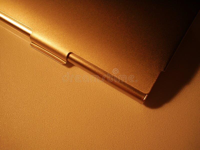 Metallc$besuchenkarte Kasten lizenzfreies stockfoto
