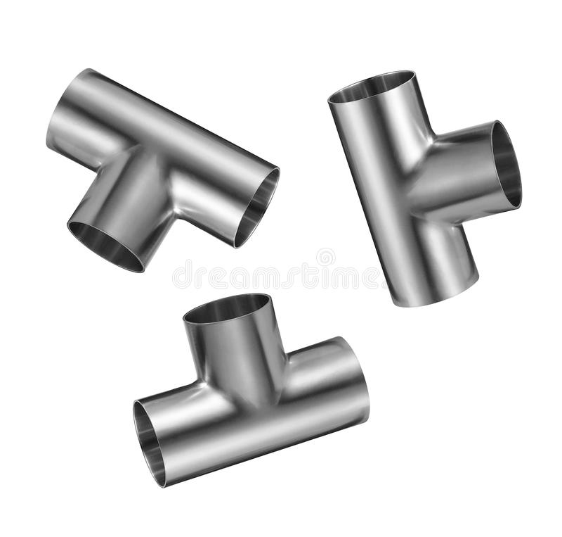 Metallchromrohr vektor abbildung