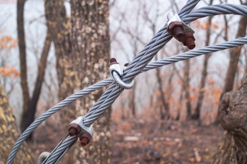 Metalldraht-Seil lizenzfreies stockbild