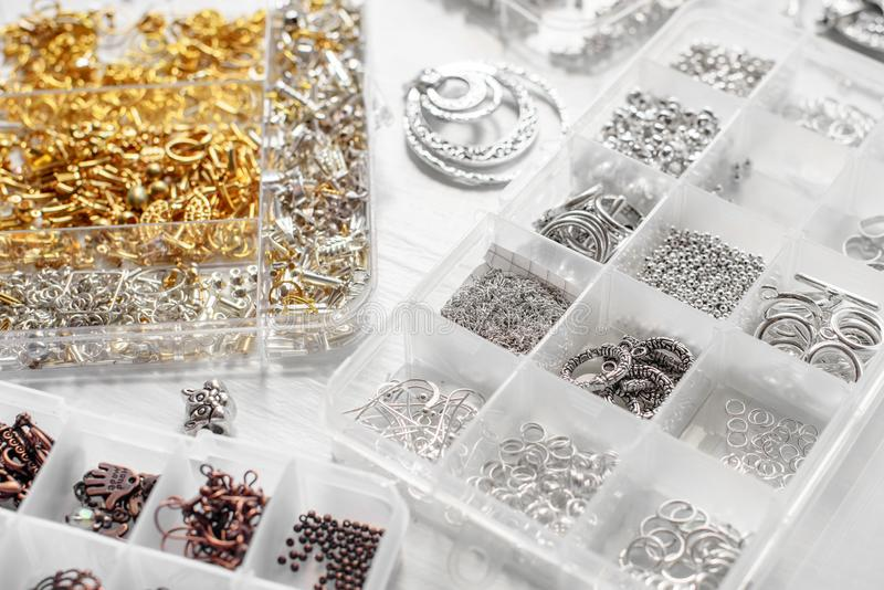 Metalle für Bijoux stockfotografie
