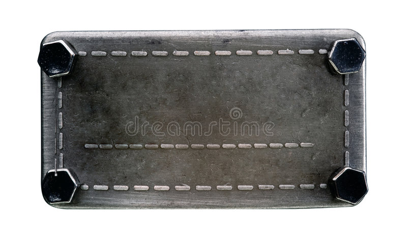 metalletikett arkivfoto