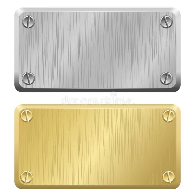 Metalletiketter - ID-Märken stock illustrationer