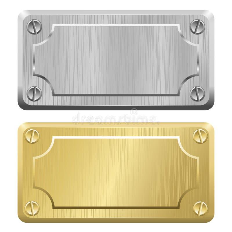 Metalletiketter - ID-Märken vektor illustrationer
