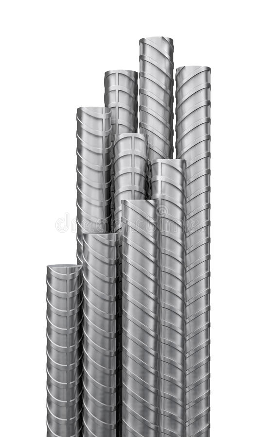 Metallförstärkningar, slut upp stock illustrationer