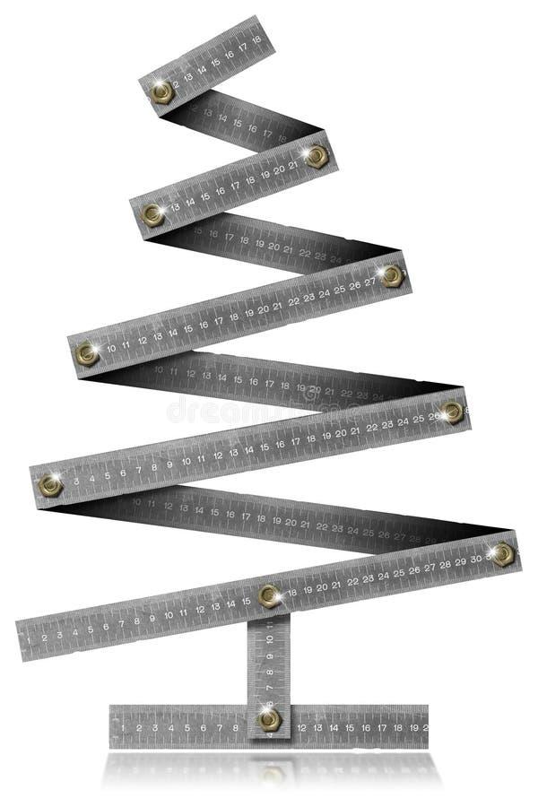 Metallfalte-Richtlinien-Weihnachtsbaum lizenzfreie abbildung