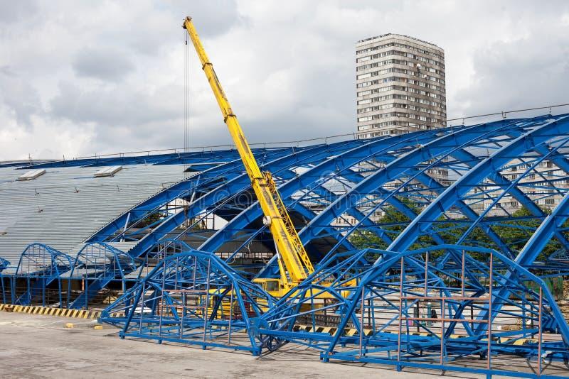 Metallfeld-Struktur auf Decontruction Site stockfotografie