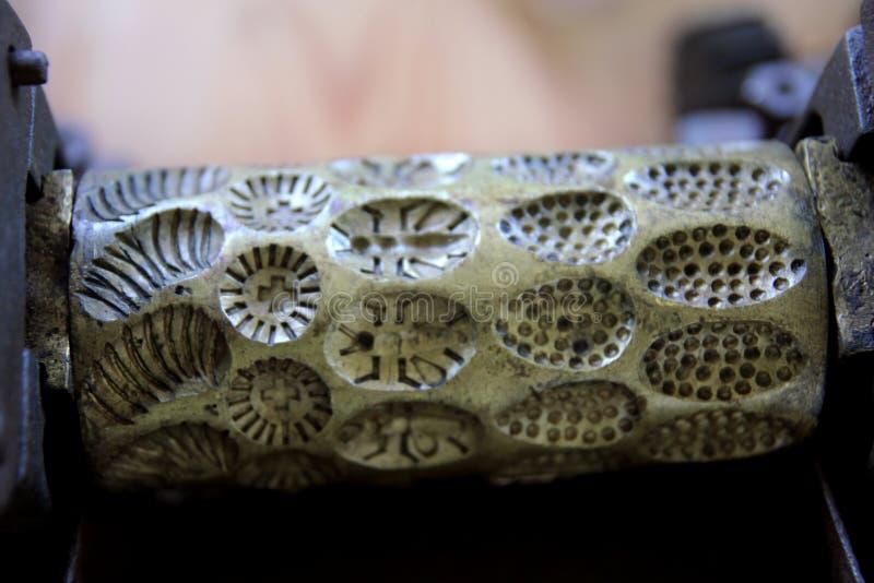 Metallformen för sötsaker royaltyfri foto