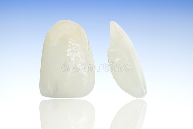 Metallfreie keramische zahnmedizinische Kronen lizenzfreies stockbild