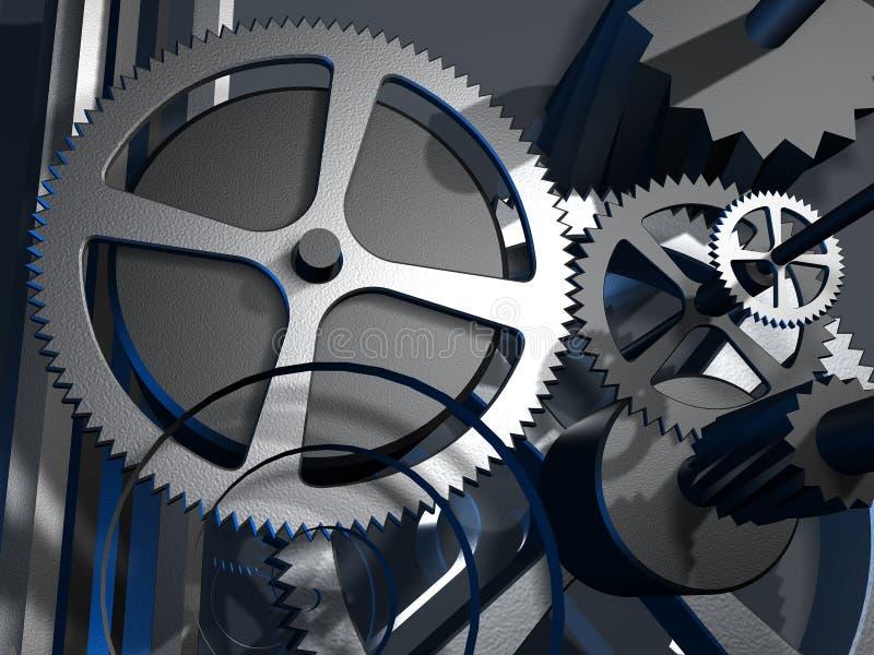 Metallgänge 3D stock abbildung