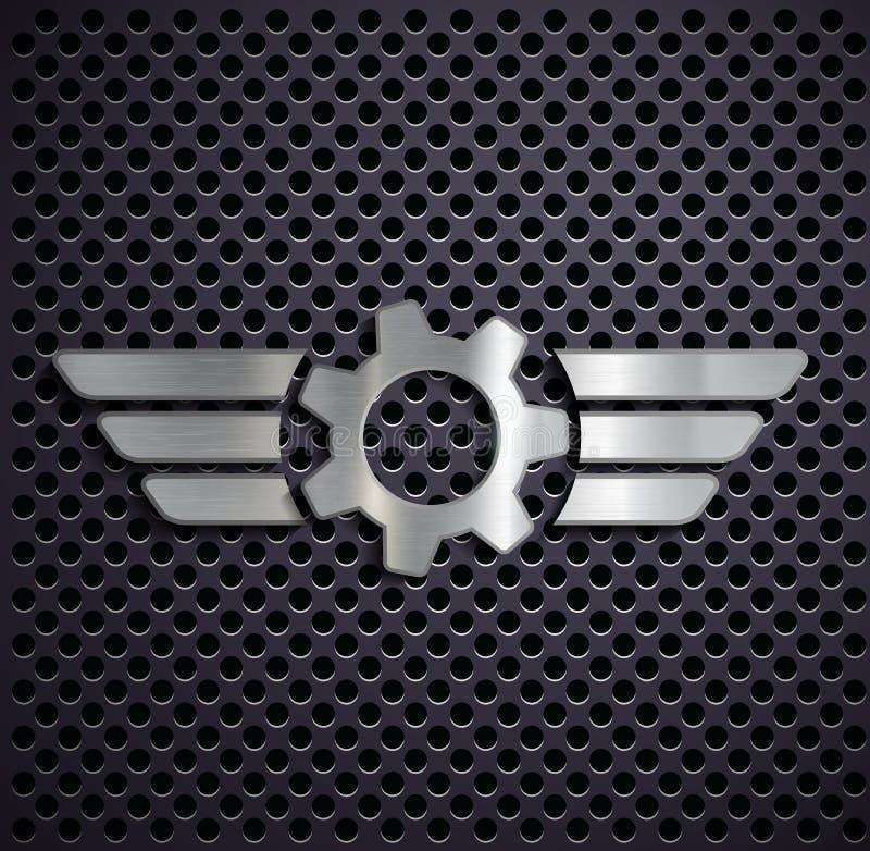 Metallgang mit Flügeln stock abbildung