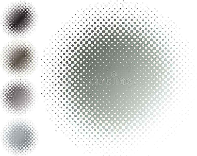 Metallhalbtonunschärfe, grau stock abbildung