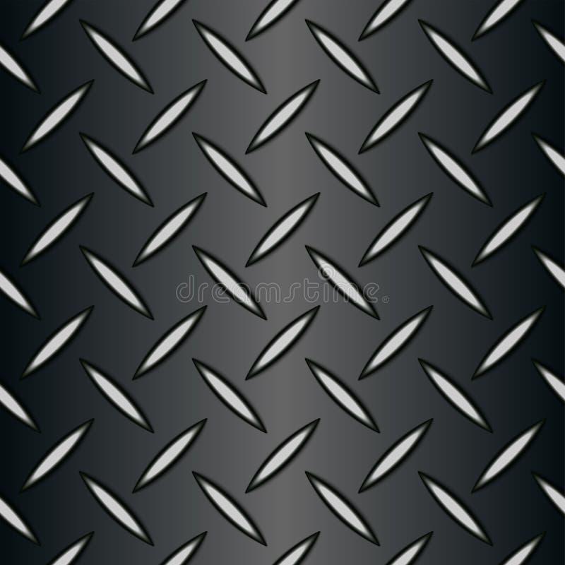 Metallhintergrund der nahtlosen Diamantplatte stock abbildung