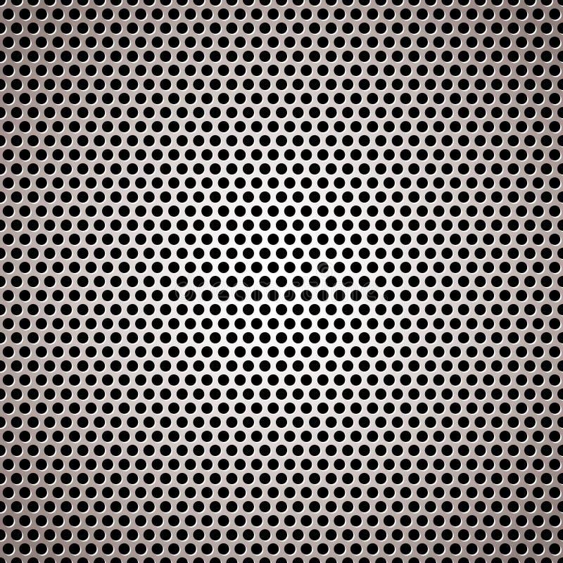 Metallhintergrund-Kreisleuchte vektor abbildung