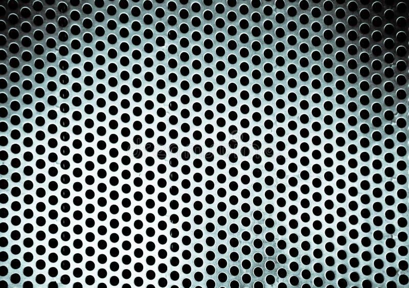 Metallhintergrund mit rundem Loch lizenzfreies stockfoto