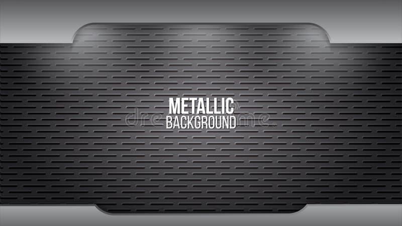 Metallhintergrundtextur Aluminium-Stahlplatten abstrakte Design-Vektor-Vorlage stock abbildung