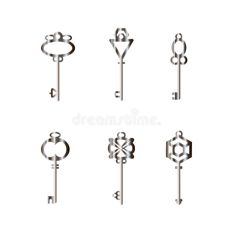Metallhuvudnycklar royaltyfri fotografi