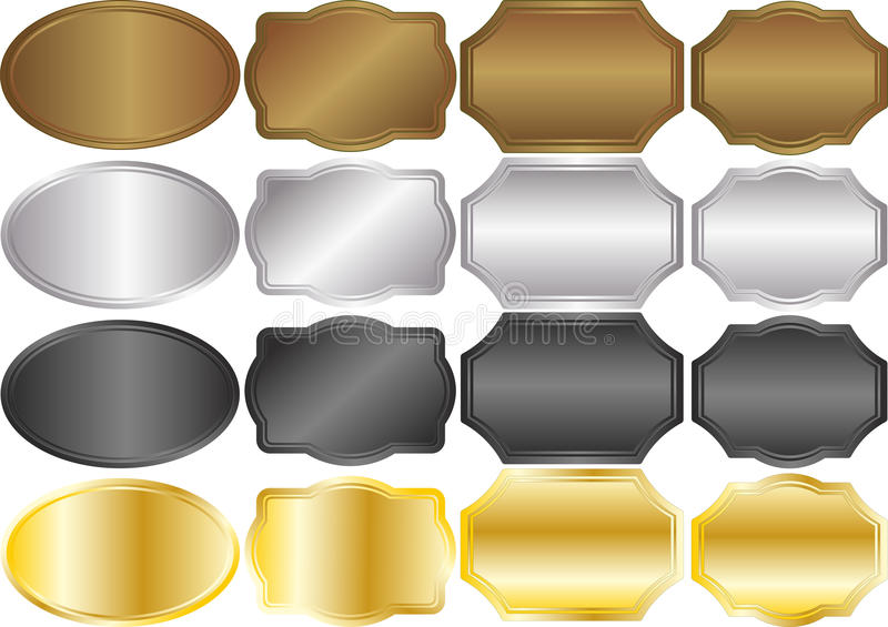 Download Metallic stock vector. Image of illustration, cover, classical - 22381717