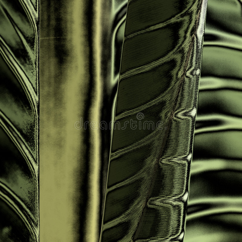 Metallic. Abstract created from digital manipulation of a photo of banana leaves stock photography