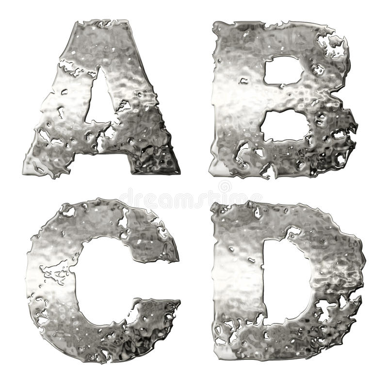 Download Metallic alphabet. stock illustration. Image of rough - 22909294