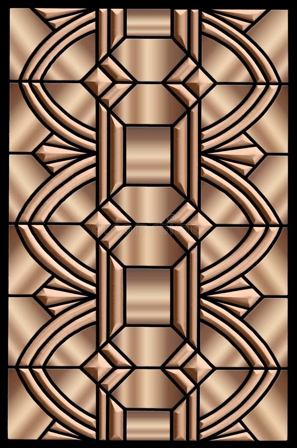 Metallic Art deco design stock illustration