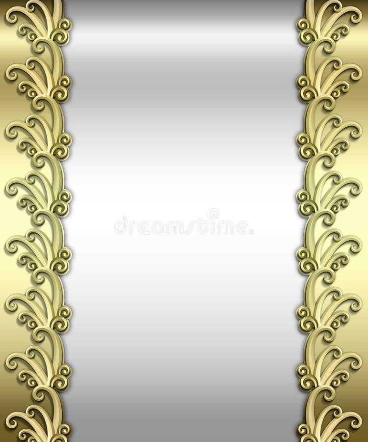 Metallic Art Deco Frame stock photos