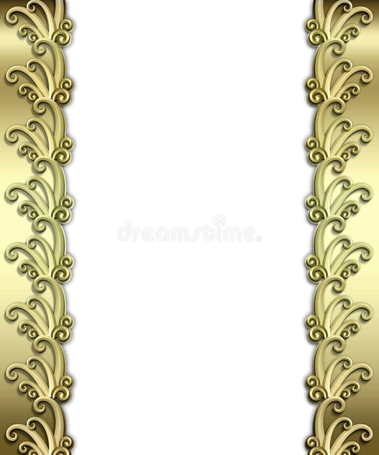 Metallic Art Deco Frame royalty free stock images
