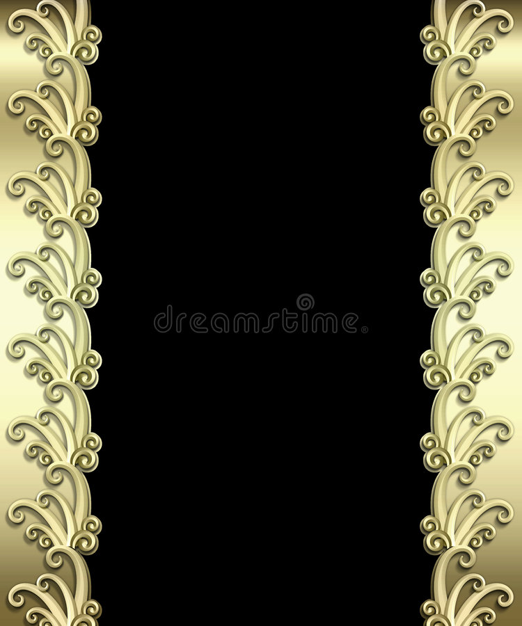 Metallic Art Deco Frame stock photography