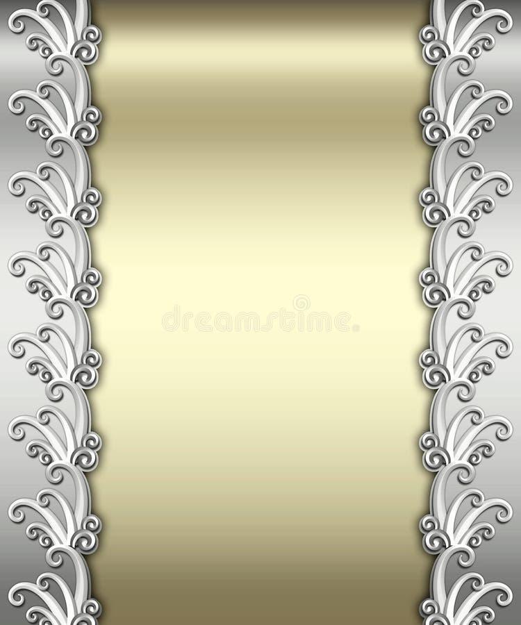 Metallic Art Deco Frame stock image
