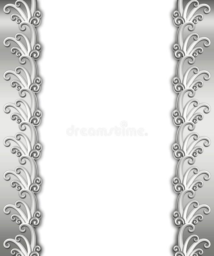 Metallic Art Deco Frame royalty free stock photo