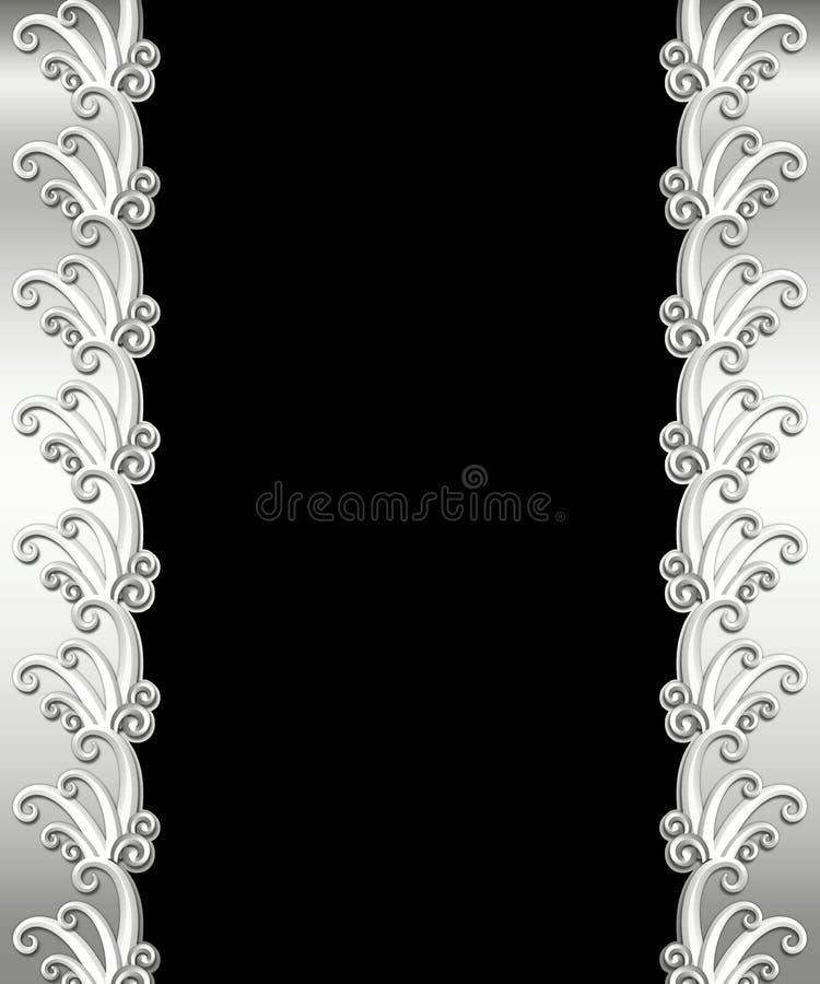 Metallic Art Deco Frame royalty free stock photos