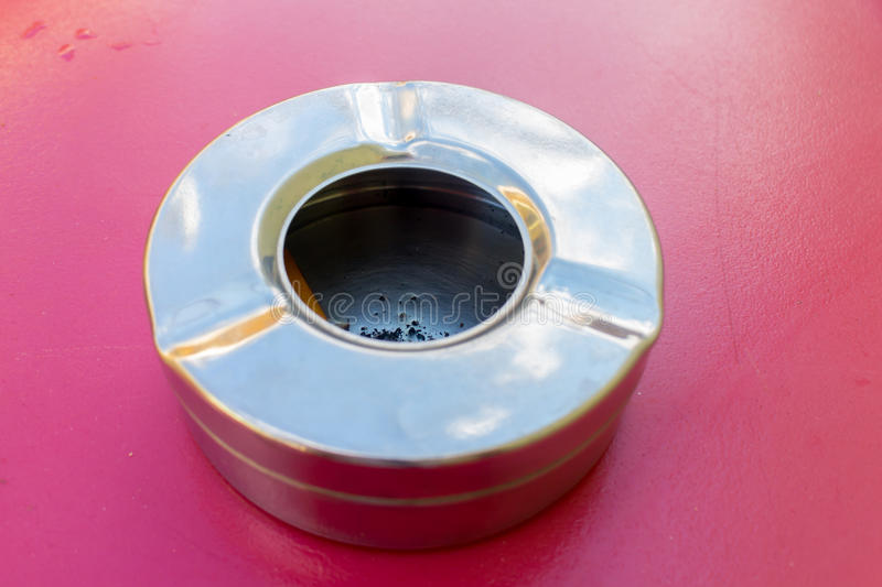 Metallic Ashtray. Photography of a metallic Ashtray royalty free stock photography