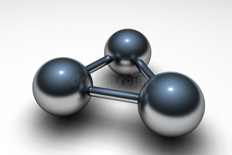 Metallic atom vector illustration