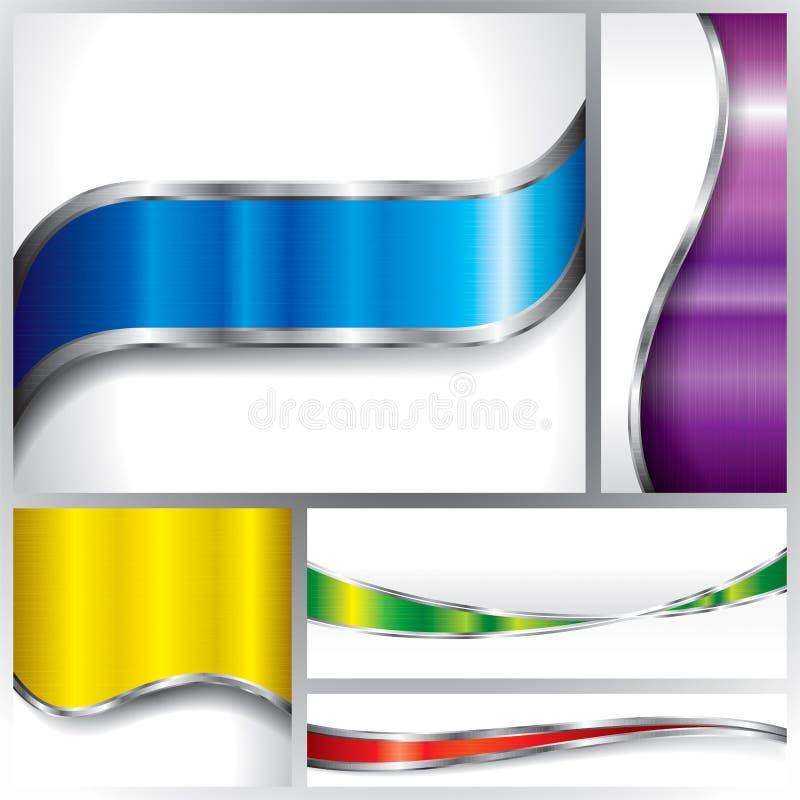 Download Metallic Background set stock vector. Illustration of mechanical - 30699633