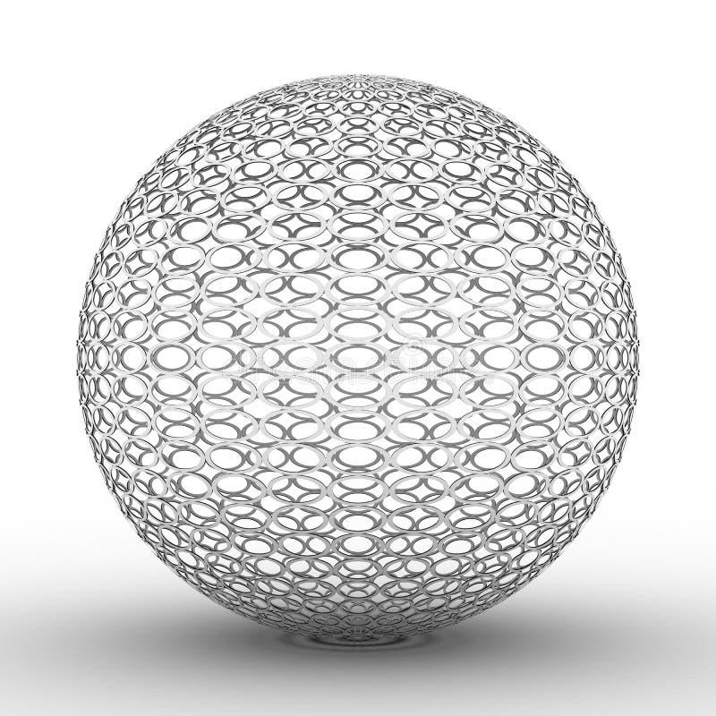 Metallic ball on white background vector illustration