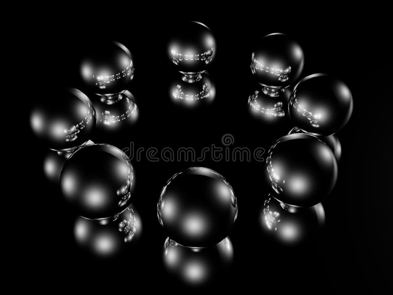 Download Metallic balls stock illustration. Image of round, grey - 24824718