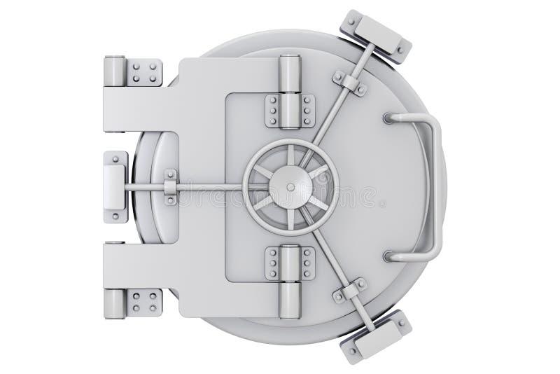 Metallic bank vault door stock illustration