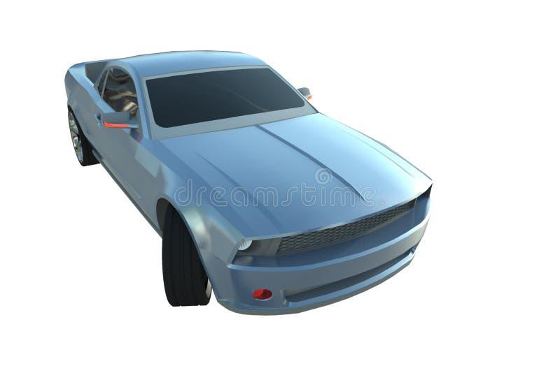Metallic Blue Sports Car royalty free illustration