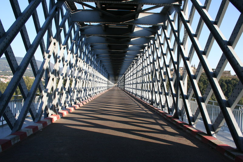Metallic Bridge stock photos
