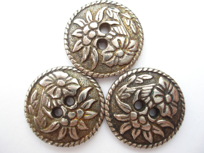 Download Metallic buttons stock photo. Image of gilder, vintage - 180482