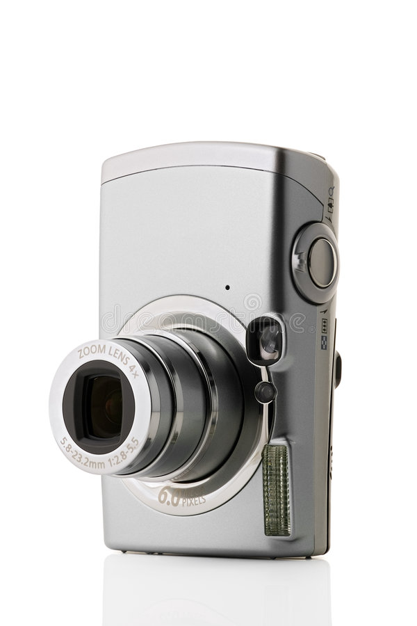 Metallic Camera Royalty Free Stock Photo