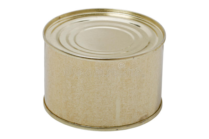 Download Metallic can stock image. Image of single, groceries - 21906873