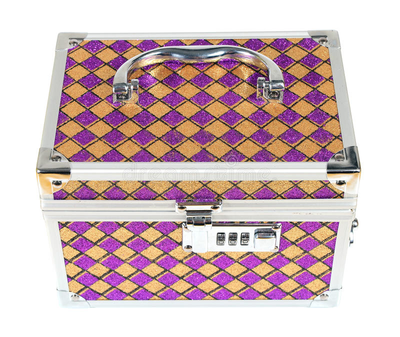 Metallic Chest Box For Jewelry Stock Photos