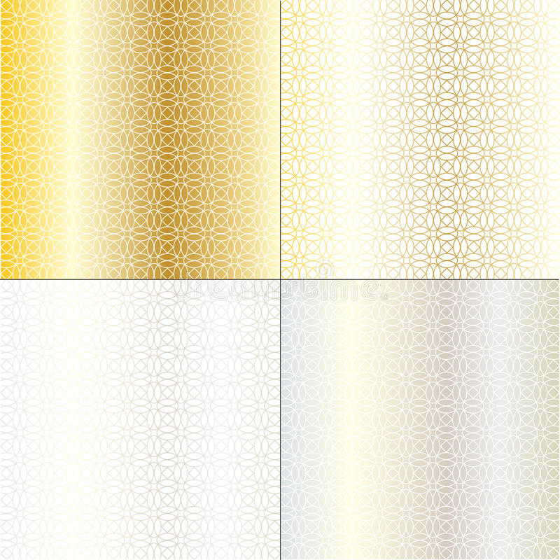 Metallic circle geometric background patterns royalty free illustration