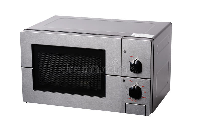 Metallic covered microwave stock images