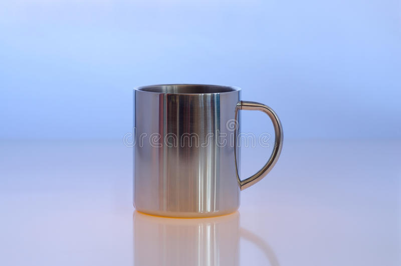 Download Metallic cup stock photo. Image of steel, object, blue - 18852198