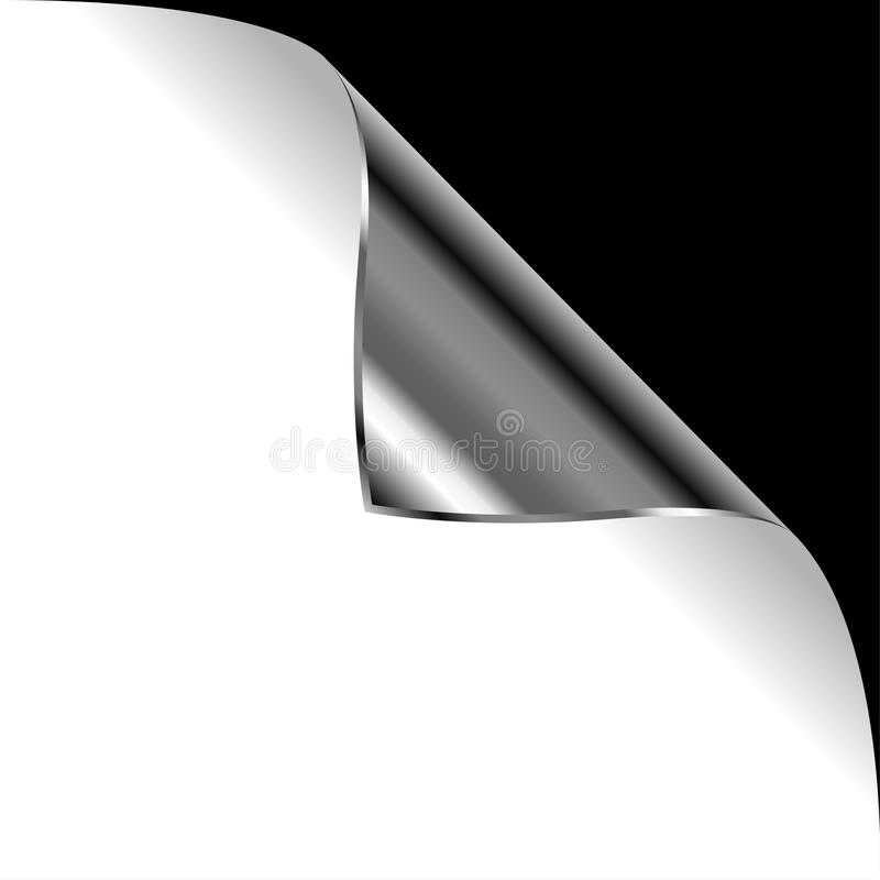 Download Metallic curled corner stock vector. Image of illustration - 17750633